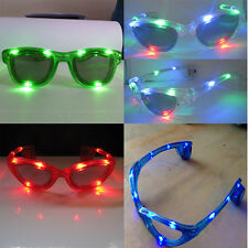 Hot 4Colors LED Flashing Space Light Up Glow Blinking Rave Dancing Party Glasses