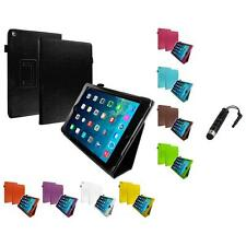 Folio Folding Slim Case Cover Pouch Stand Stylus Plug for Apple iPad Air 2