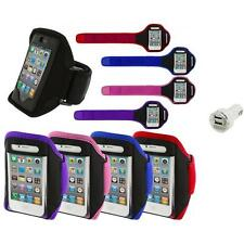 Color Running Sports Gym ArmBand+Dual Charger for iPhone 4 4G 4S 3GS S 3G 2G