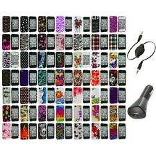 Design Color Hard Snap-On Skin Case Accessory+Aux+Charger for iPhone 4 4G 4S