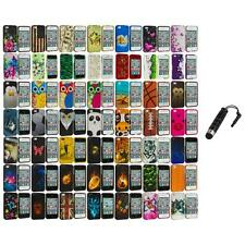 Design Hard Rubberized Color Snap-On Case Cover+Stylus Plug for iPhone 4 4S 4G