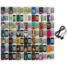 Design Hard Rubberized Color Snap-On Case Cover+Headphones for iPhone 4 4S 4G