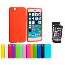 For Apple iPhone 6 (4.7) Silicone Case Cover+2X Clear Screen Protector