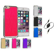 Brushed Aluminum Luxury Hard Case Cover for Apple iPhone 6 (4.7) Aux Cable