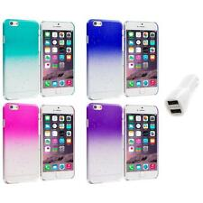 For Apple iPhone 6 (4.7) Crystal Raindrop Hard Case Cover Car Charger