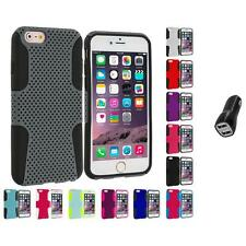For Apple iPhone 6 Plus (5.5) Hybrid Mesh Shockproof Case Cover 2.1A Charger