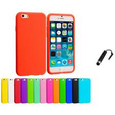 For Apple iPhone 6 Plus 5.5 Silicone Rubber Soft Skin Case Cover Stylus Plug