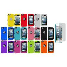 Deluxe Hybrid 3-Piece Case+Protector+Screen Protector for iPod Touch 5th Gen 5G