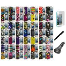 Design Hard Rubberized Case Cover+LCD+Charger+Pen for iPod Touch 5th Gen 5G