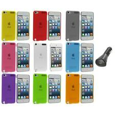 Color Ultra Thin Snap-On Hard Cover Case+Car Charger for iPod Touch 5th Gen 5G 5