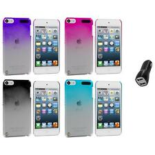 Color Clear Raindrop Hard Case Cover+2.1A Charger for iPod Touch 5th Gen 5G 5