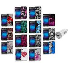 Design Hard Snap-On Rubberized Case Cover+USB Charger for Blackberry Z10 Phone
