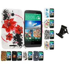 For HTC Desire 510 TPU Design Rubber Skin Case Cover Accessory Stand Mount