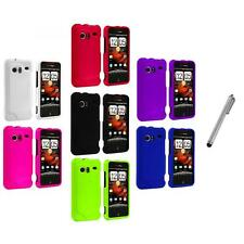 Color Hard Rubberized Case Cover+Metal Pen for HTC Droid Incredible 6300