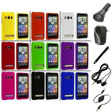 Color Hard Snap-On Rubberized Case Cover+Accessories for HTC Sprint EVO 4G