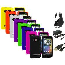 Color Silicone Gel Soft Case Cover+3X Chargers for HTC Sprint EVO 4G Accessory