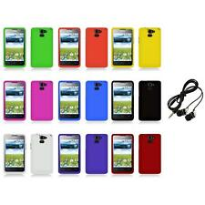 For Huawei Premia 4G M931 Color Hard Snap-On Rubberized Case Cover+Headphones