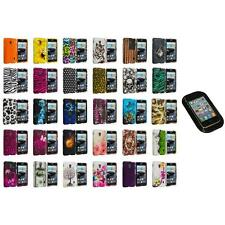 For LG Optimus F6 Hard Design Snap-On Rubberized Skin Case Cover Sticky Pad