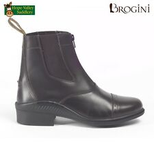 Brogini Tivoli Unisex Short Leather Zip Jodhpur Boots. Two Colours Available.