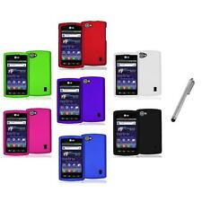 Color Hard Snap-On Skin Case Cover+Metal Pen for LG Optimus M+ Plus MS695
