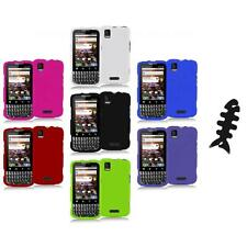 Color Hard Snap-On Rubberized Case Cover+Cable Wrap for Motorola Xprt MB612