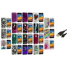 Design Hard Case Cover+USB Cable for Samsung Epic Touch 4G Sprint Galaxy S2