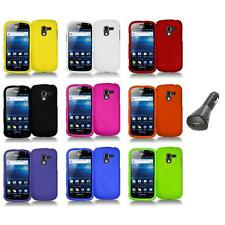 Color Hard Snap-On Case Skin Cover+Car Charger for Samsung Exhilarate i577