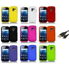 Color Hard Snap-On Case Skin Cover+USB Cable for Samsung Exhilarate i577