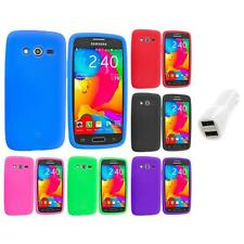For Samsung Galaxy Avant G386 Silicone Rubber Case Cover Car Charger