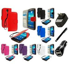 For Samsung Galaxy S4 Active Wallet Pouch Flip Case Cover Charger+Stylus