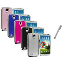 Brushed Aluminum Chrome Metal Case Cover+Metal Pen for Samsung Galaxy S4 S IV
