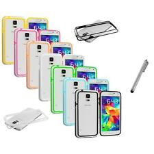For Samsung Galaxy S5 SV TPU Bumper Frame Hard Case Cover Stylus Pen