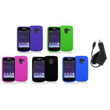 Color Silicone Rubber Gel Soft Skin Case Cover+Charger for ZTE Avid 4G N9120