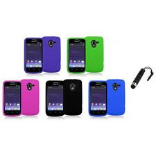 Color Silicone Rubber Gel Soft Skin Case Cover+Stylus Plug for ZTE Avid 4G N9120