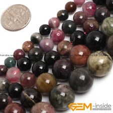 Natural Colorful Tourmaline Gemstone Round Beads For Jewelry Making 6mm 8mm 10mm