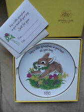 Cloverleaf Lane' Collection SPRING LOVE Plate 1980 by LINDA K. POWELL w/box/card