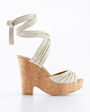 Ann Taylor Marley Cork Wedge Org.$198.00 New In Box!