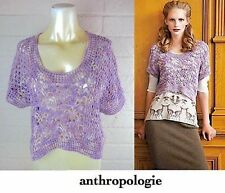 Anthropologie Crocheted Hydrangea Pullover $258.00 New With Tag!