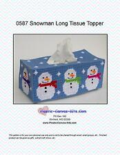 Snowman Long Tissue Topper-Plastic Canvas Pattern or Kit