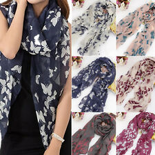 Stunning Long Neck Butterfly Print Voile Wrap Shawl Pashmina Stole Scarf YS