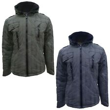 SALE ITEM WAS £49.99 Brave Soul MJK-Asbo Mens Hooded Padded Checked Jacket Coat