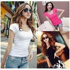 Free Shipping Short Sleeve Shirts Women Ladies T Shirts Casual Blouse Tops Pure