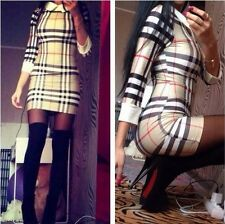 Sexy fashion long sleeve Sexy Slim Doll Collar Mini Pencil Dress Bottoming Dress