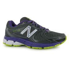 New Balance W680v2 Womens Running Shoes Trainers Grey/Purple Jogging Sneakers