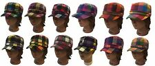 Cadet Cap Army Military Fashion Castro Youth Hat Cap-Plaid Checker Pattern