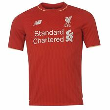 New Balance Liverpool FC Home Jersey 2015 2016 Juniors Red EPL Football Soccer