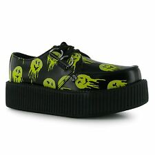 TUK Viva Digi Chunky Sole Creepers Shoes Womens Smiley Ladies Fashion Footwear