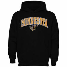 Minnesota Golden Gophers Youth Black Midsized Pullover Hoodie