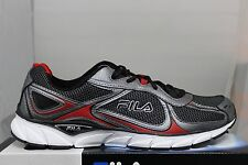 Men's Fila Quadrix Black/Dk Silver/Red Authentic Fila New In Box