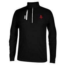 adidas Houston Rockets Black Mixed Media 1/4 Zip ClimaLITE Pullover Jacket
